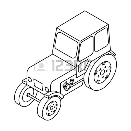 450x450 Tracked Tractor Icon In Cartoon Style Isolated On White Background