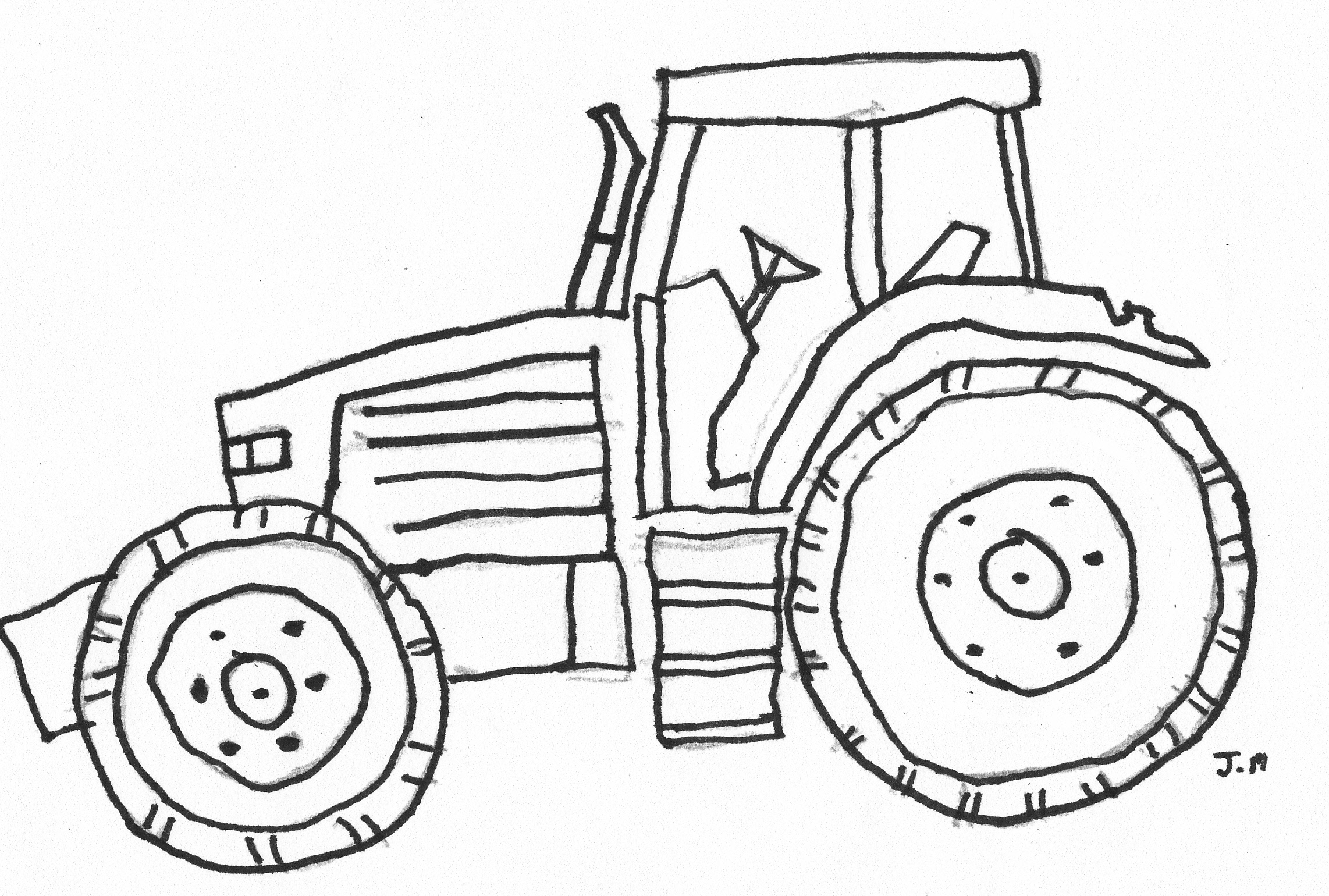 Traktor Ausmalbilder Claas : Tractor Outline Drawing At Getdrawings Com Free For Personal Use