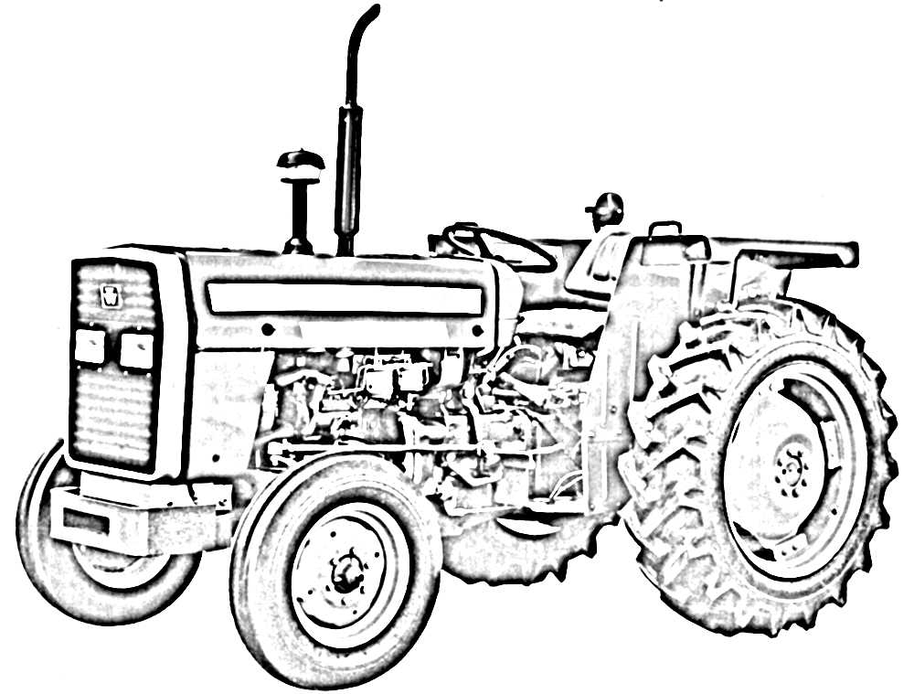 1000x759 Click To See Printable Version Of Farm Tractor Coloring Page