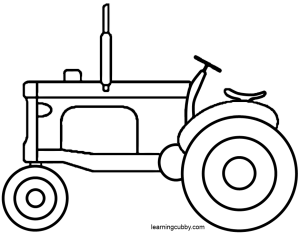 300x234 For Grandsons Quilt Tractor Coloring Pages Applique