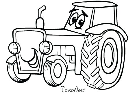 474x329 Tractor Coloring Page