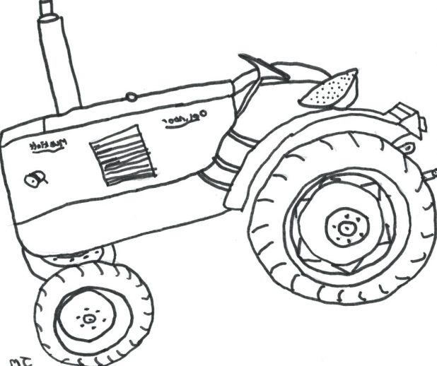 618x518 Coloring Pages Stunning Tractor Coloring Sheets. Easy Tractor