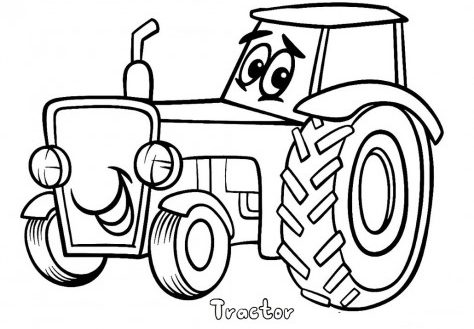 474x329 Tractor And Trailer With Animals Coloring Page Ecoloringpage Com