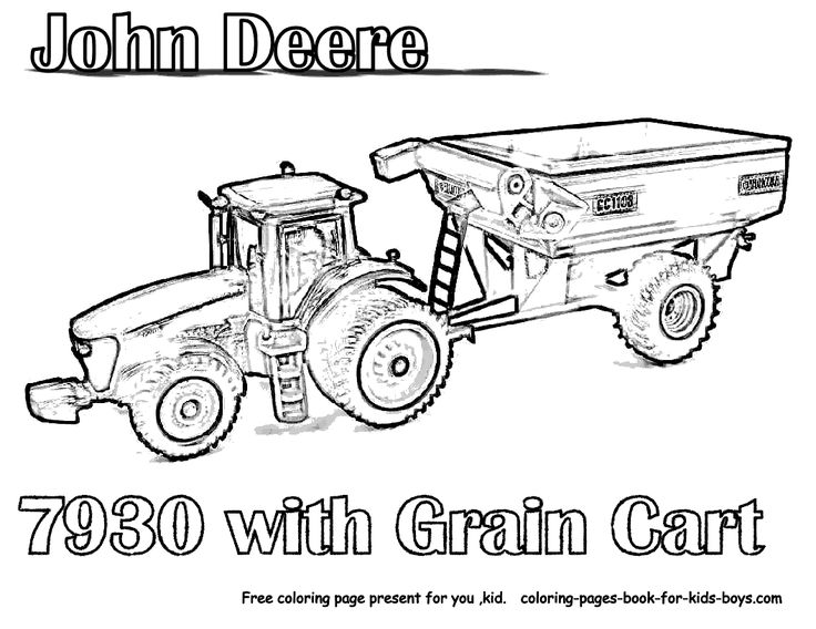 736x568 Tractor Coloring Pages Printable