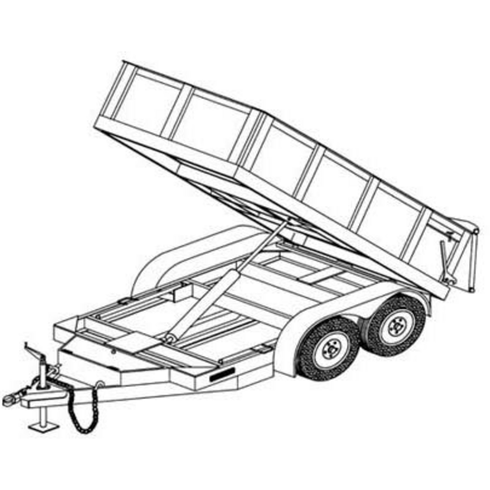 2000x2000 Utility Trailer Clipart