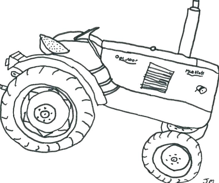 736x617 Tractor Color Pages