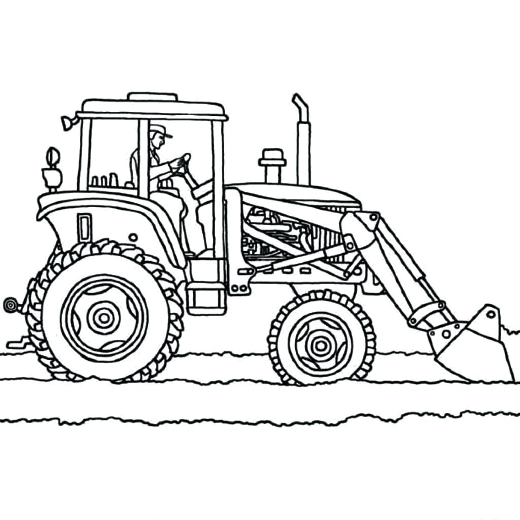 1024x1024 Tractor Vector Outline Icon Stock Vector 45514535. Illustration