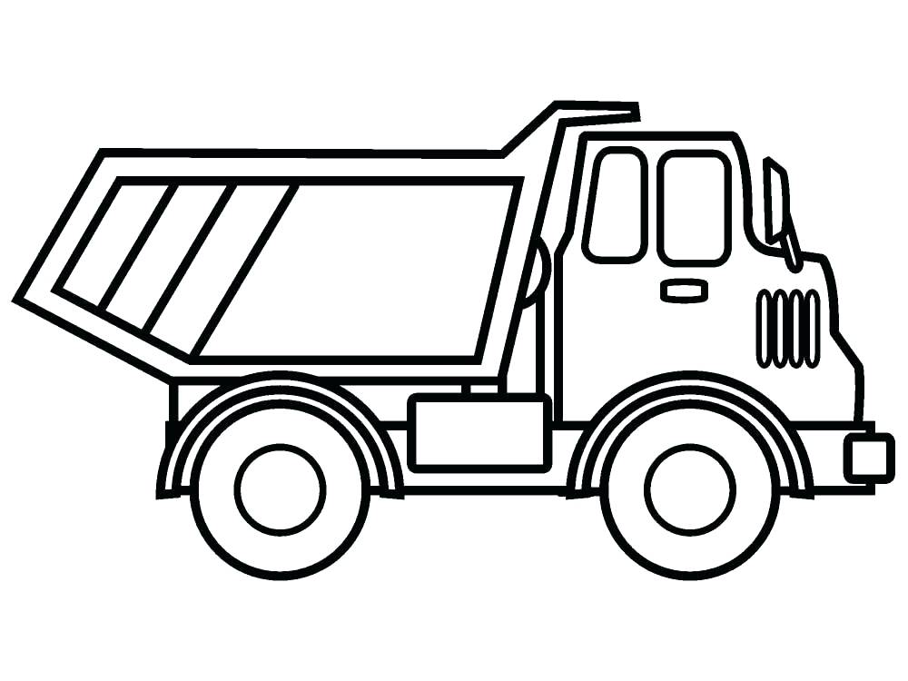 1000x750 Truck And Trailer Coloring Pages
