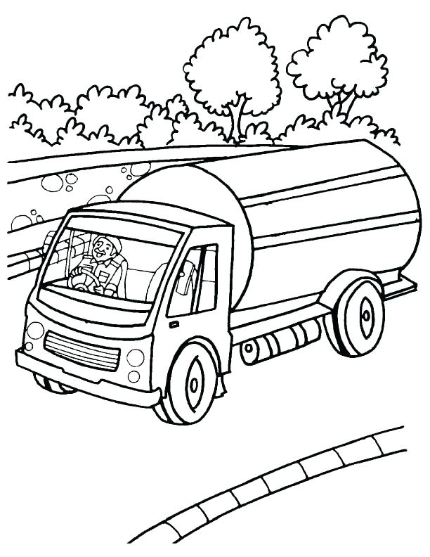 612x792 Elegant Truck And Trailer Coloring Pages Or Truck And Trailer