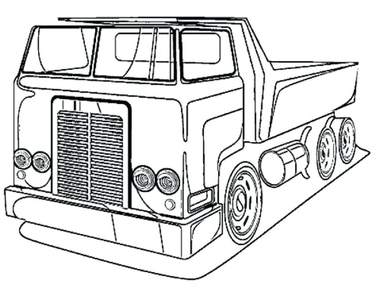 736x564 Excellent Pickup Truck Coloring Pages Print Tractor Trailer Semi