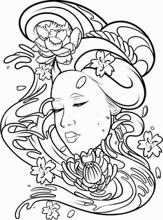 Traditional Geisha Drawing At Getdrawings Com Free For Personal