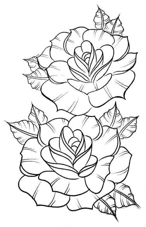 500x774 60 Desenhos Para Adultos Rose, Flowers And Tattoo