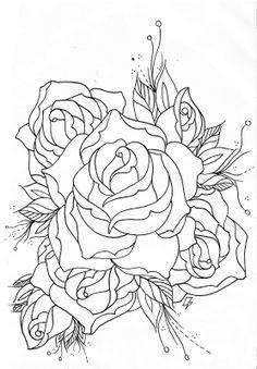 236x339 Rose Outline Png