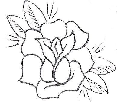 387x338 Simple outline drawings Rose Tattoo,rose Stencil,single Rose