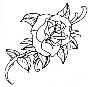 368x350 A Rather Sloppy Looking Rose Design Done For The Practice