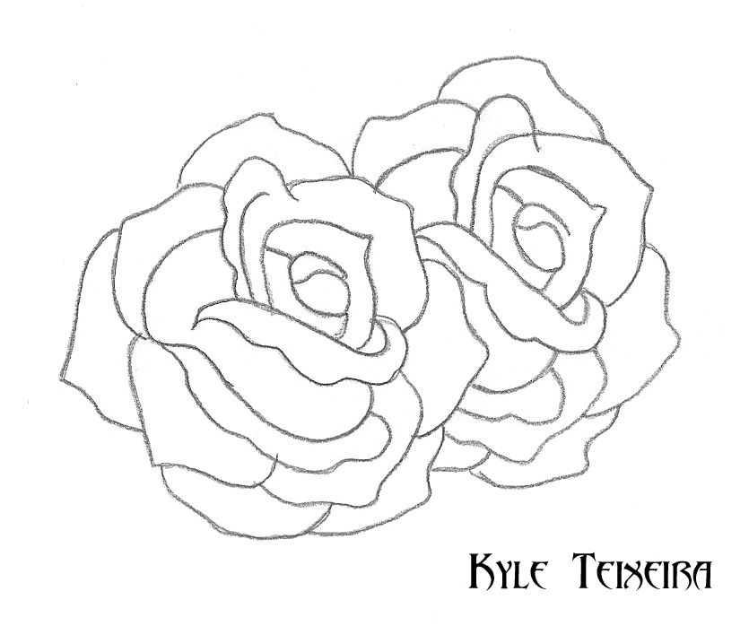 835x698 Traditional Roses By Kyle T
