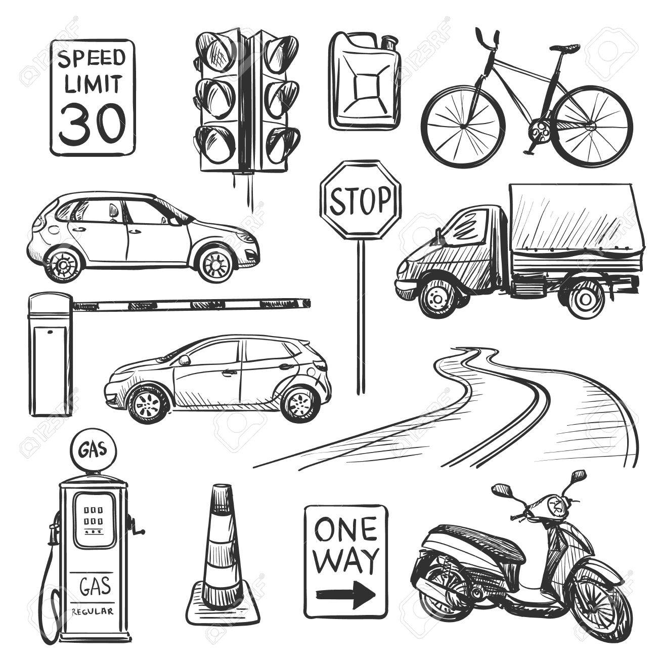 Traffic Drawing at GetDrawings.com | Free for personal use Traffic ...