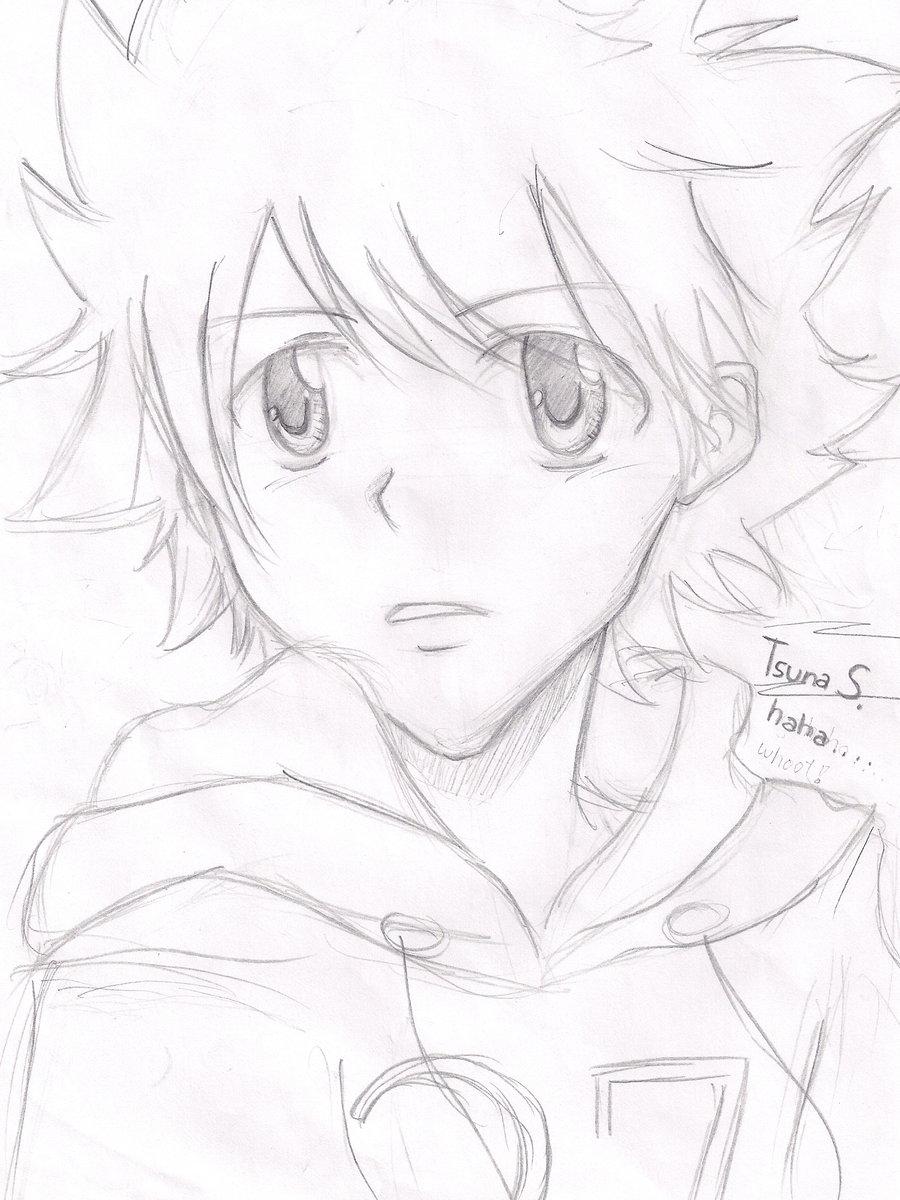 900x1200 Tsuna Sawada Sketch By Tearstotiara33