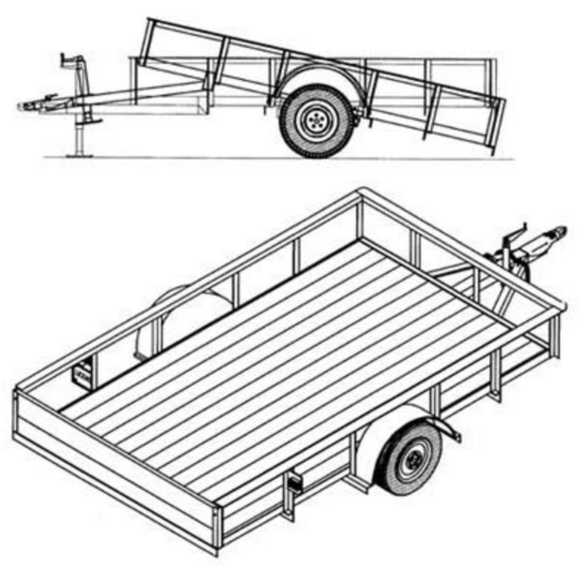 Trailer drawing at getdrawings free for personal use trailer 2000x2000 trailer blueprints 10ft x 6ft utility trailer northern tool malvernweather Gallery
