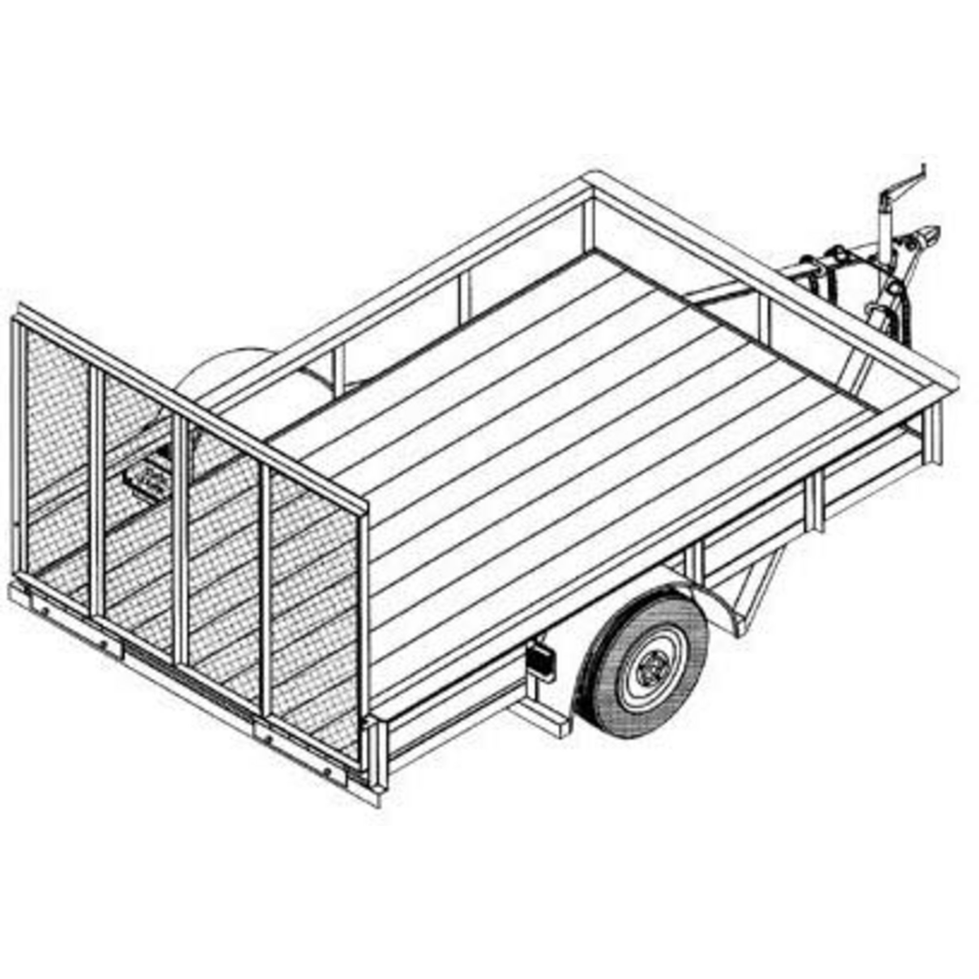 Trailer Drawing At Free For Personal Use Wiring Diagram Box 2000x2000 Utility Blueprints Northern Tool Equipment