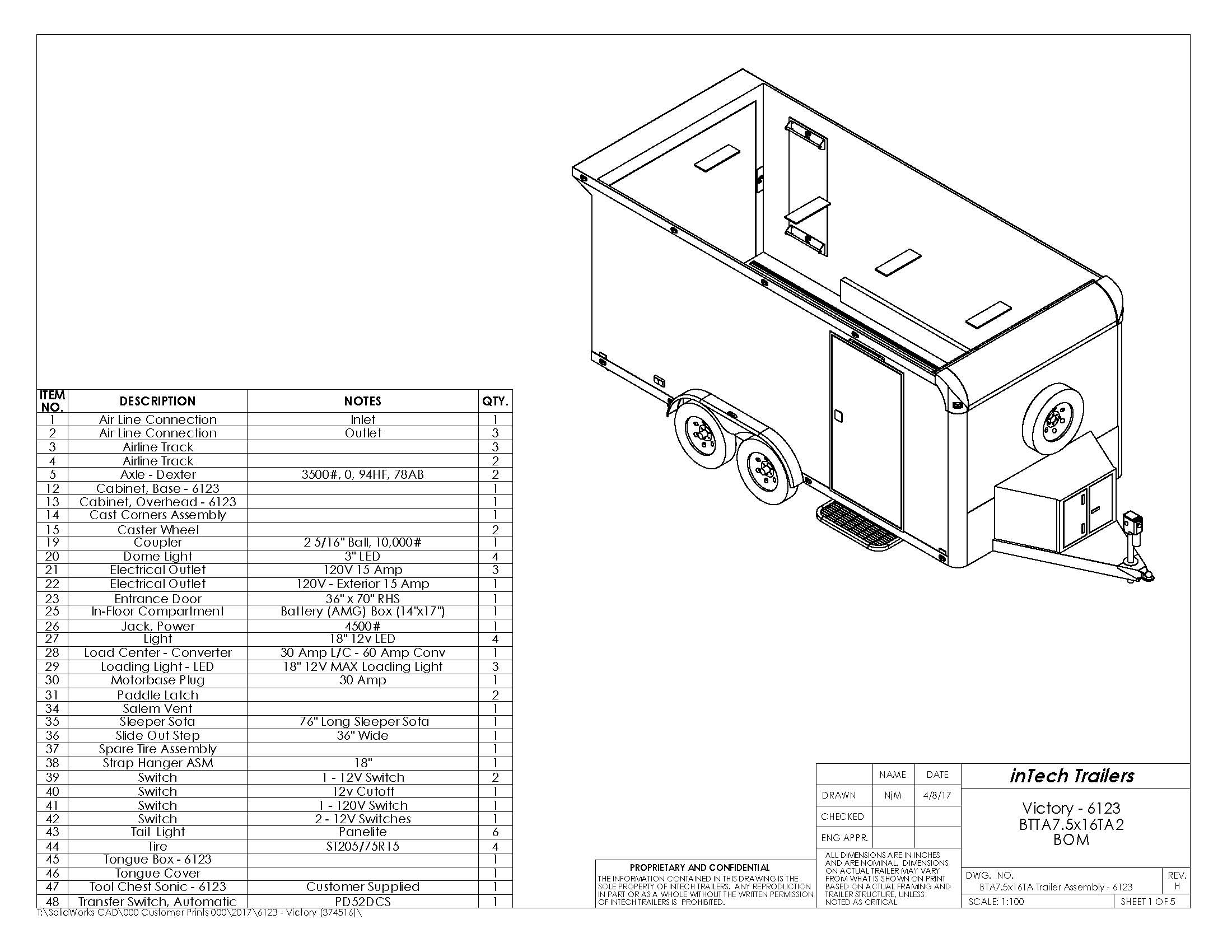 trailer drawing at getdrawings free for personal use trailer Dometic Thermostat Wiring Diagram 2200x1700 intech 7 5 x16 motorcycle trailer