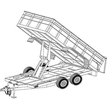 342x342 14'X6'4 Hydraulic Dump Trailer Plans Blueprints