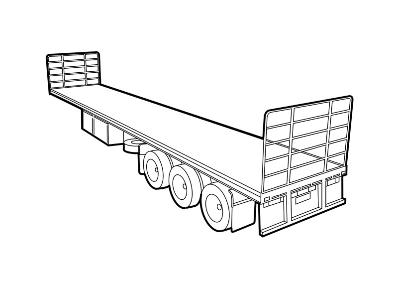800x566 Flat Top Articulated Trailers Truck And Trailer Guide
