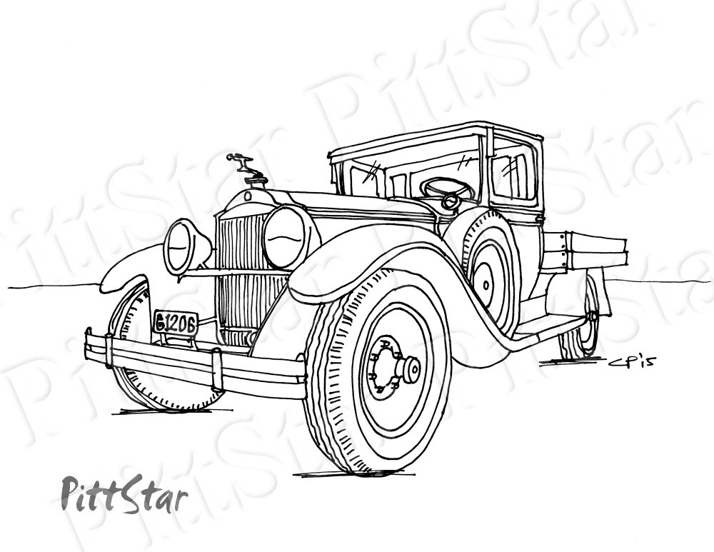 1000x773 Instant Download Vintage Pickup Truck Printable Adult