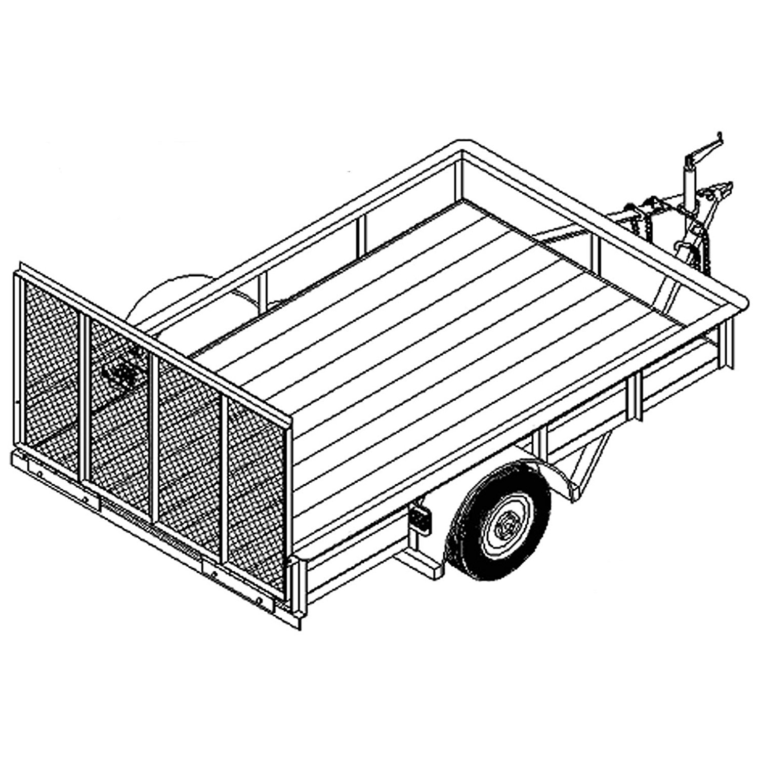 trailer truck drawing at getdrawings com