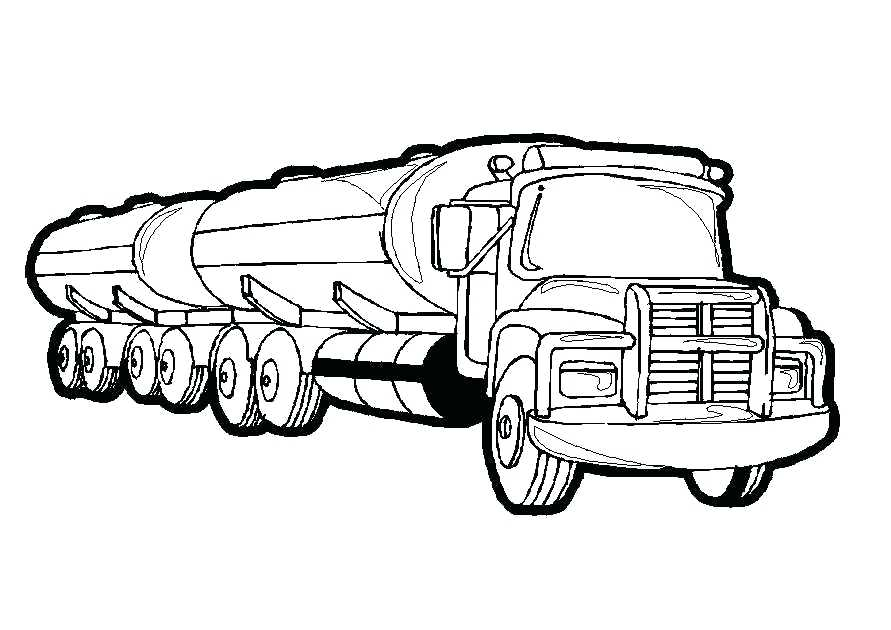 891x630 Semi Truck Coloring Pictures Pages Printable Logging In Page