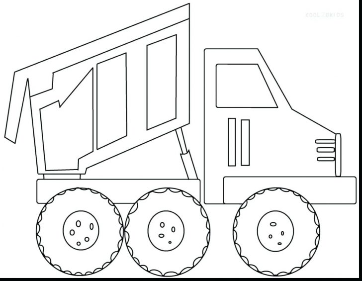 728x565 Semi Truck Trailer Coloring Pages Breathtaking Page Free Printable
