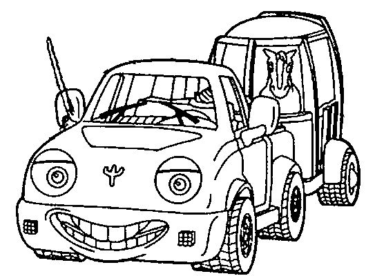 543x400 Trailer Coloring Pages