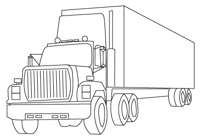 400x280 Truck Drawing To Color