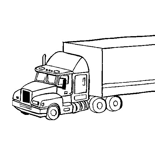 505x470 Truck Trailer Coloring Page