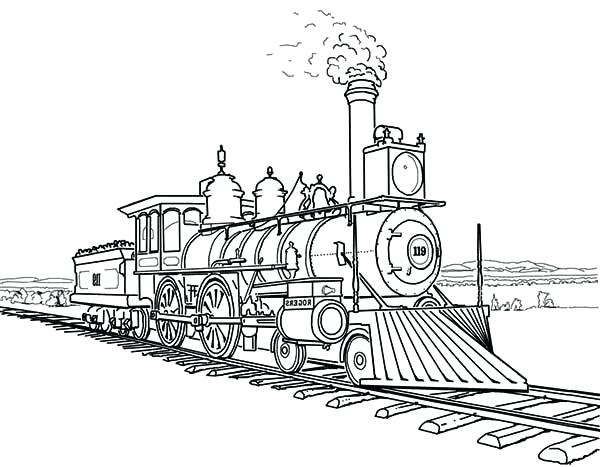 600x467 Coloring Page Of A Train Circus Train Coloring Pages Train Caboose