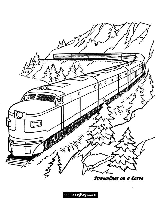 670x820 Coloring Page Train