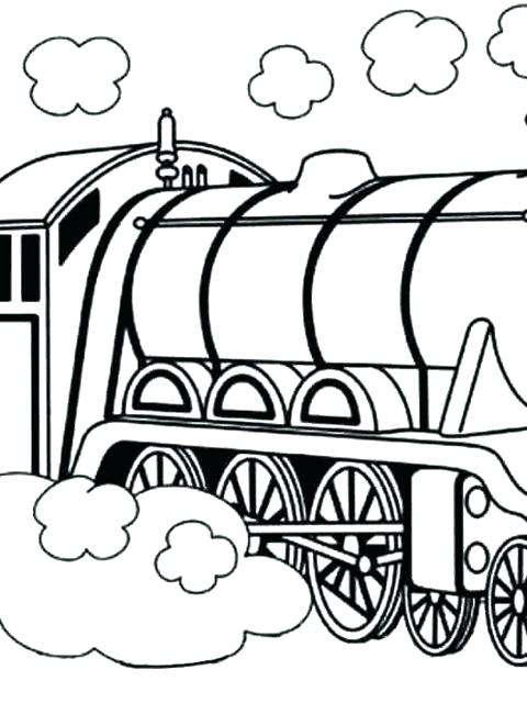 480x640 Awesome Train Coloring Pages To Print New