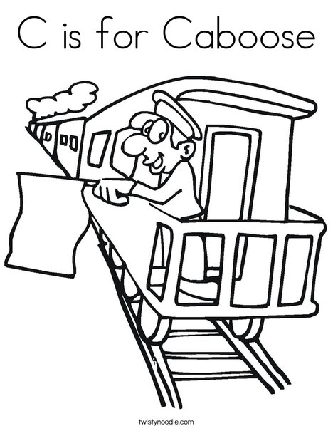 468x605 C Is For Caboose Coloring Page
