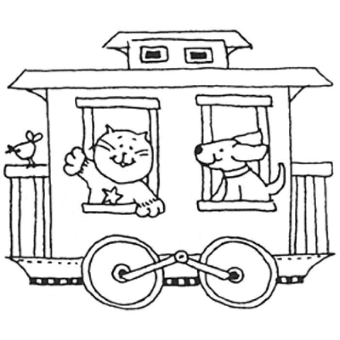 700x700 Caboose Rubber Stamp