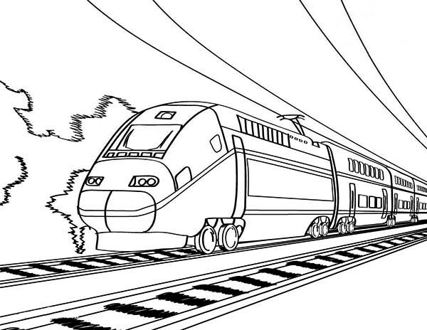 600x464 European High Speed Train Coloring Page Color Luna