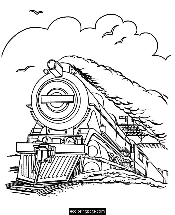 670x820 Free Steam Train Coloring Pages To Print