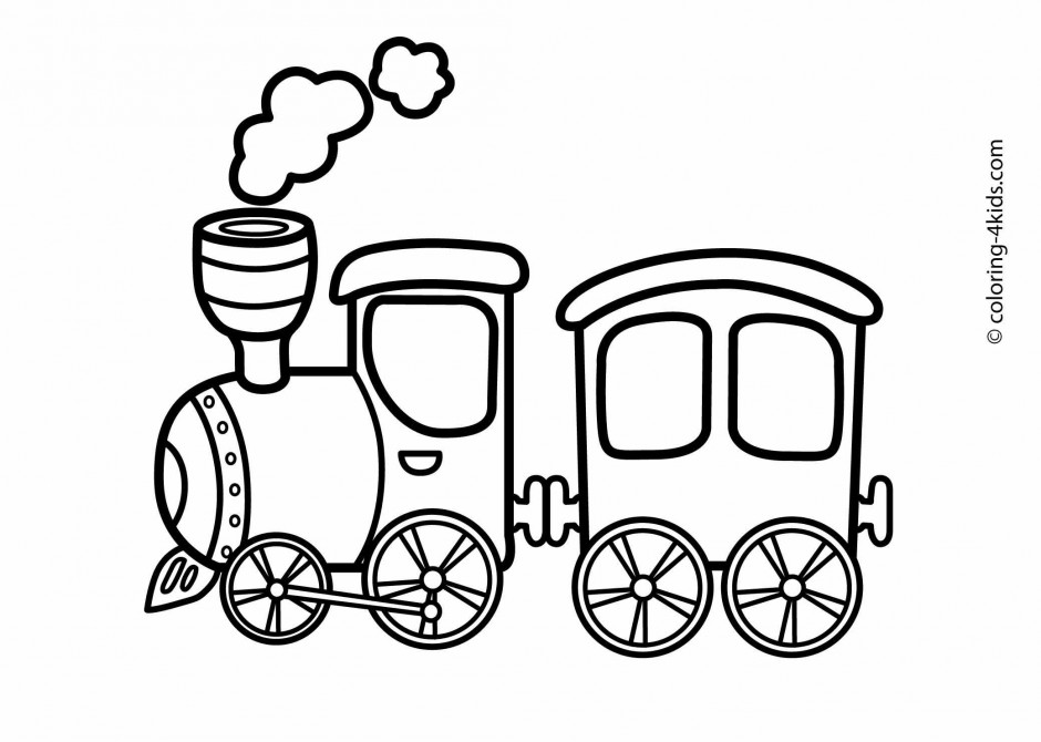 940x670 Train Car Coloring Pages