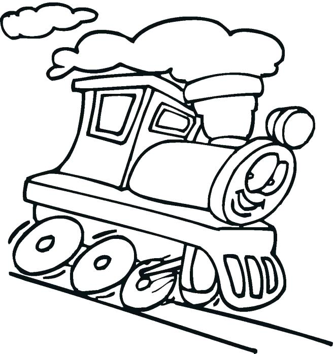 660x698 Train Color Page Printable Train Coloring Pages Free Train