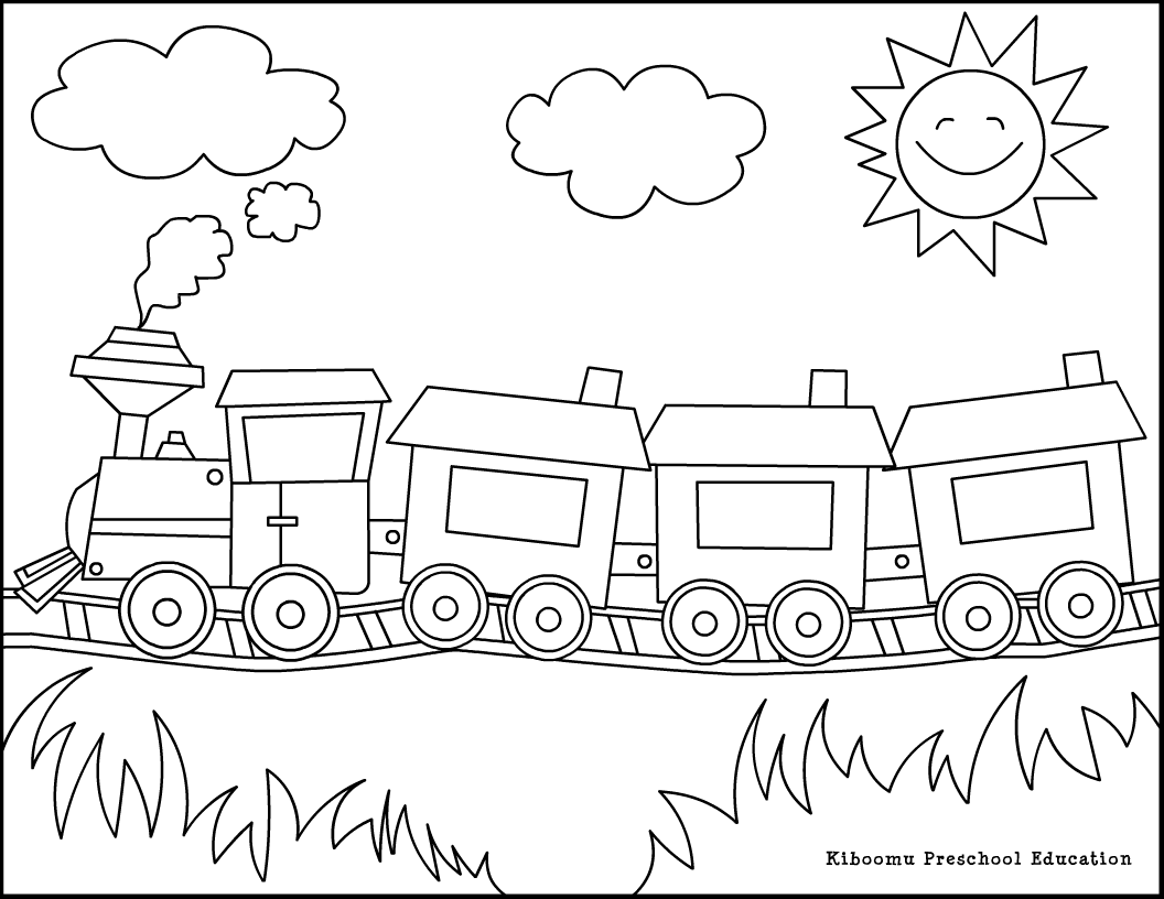 1056x816 Cars Coloring Page Train Car Pages