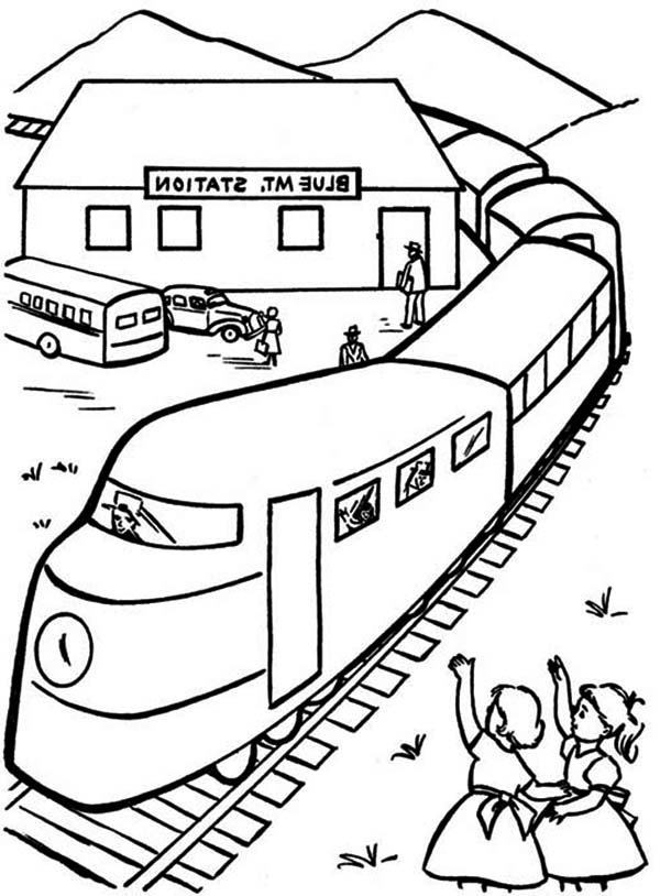 600x814 Drawn Railroad Kid Train