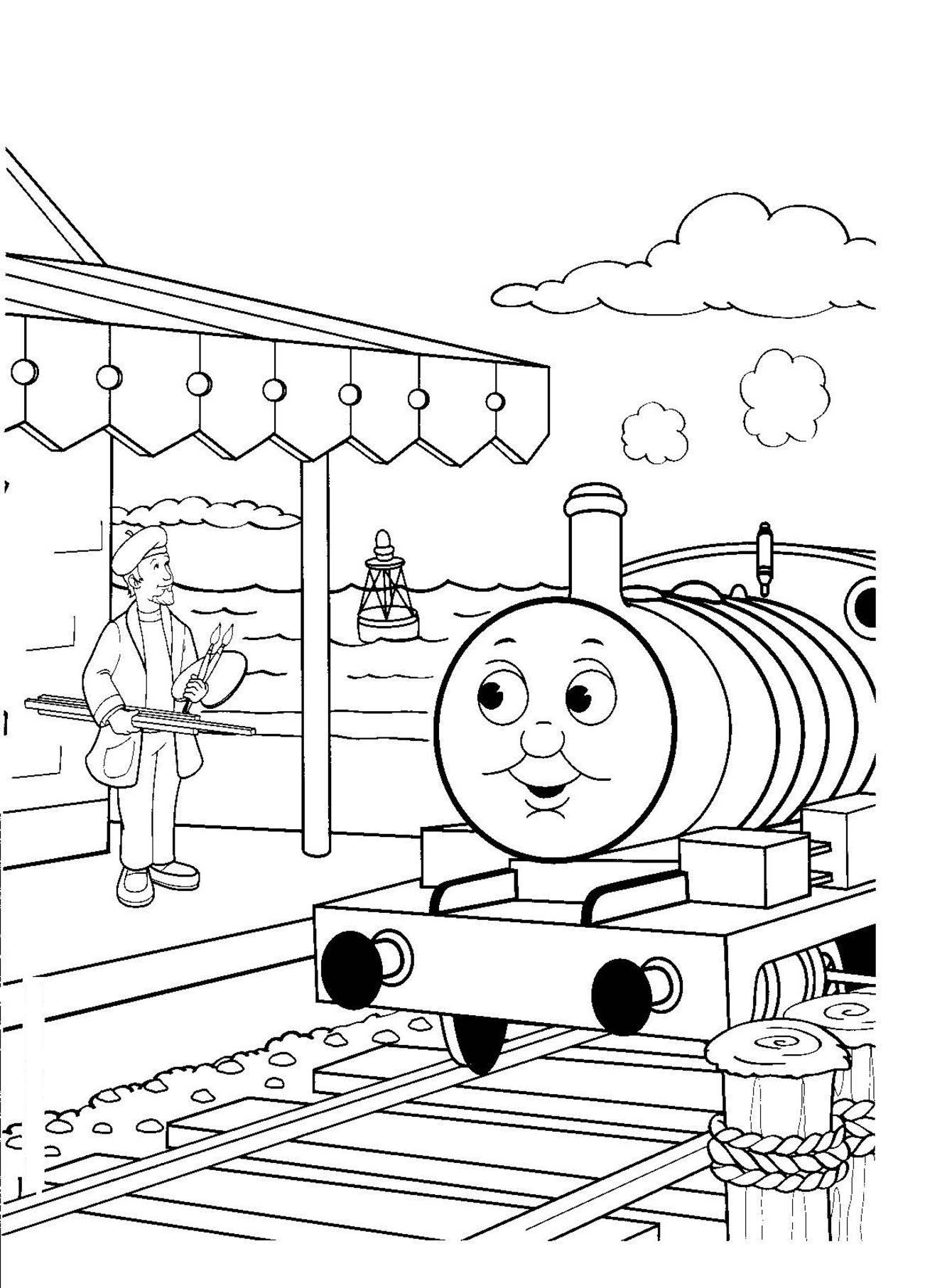 1302x1813 Free Printable Train Coloring Pages For Kids