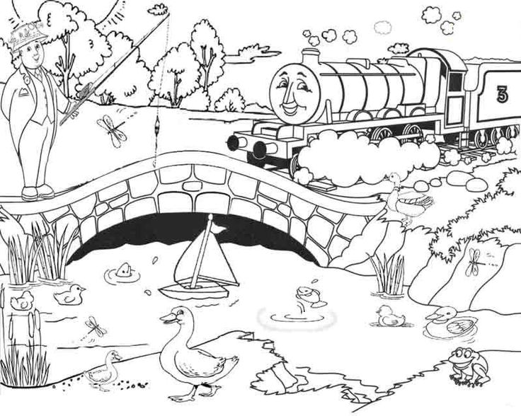 Train Cartoon Drawing