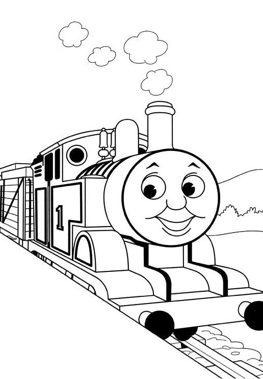 516x743 Kids Thomas The Train Coloring Pages Toby