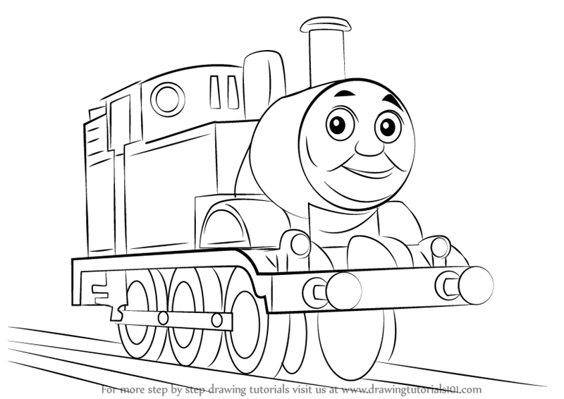 800x566 Learn How To Draw Thomas The Tank Engine (Thomas Amp Friends) Step