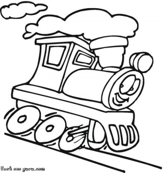 320x338 Printable Cartoon Dam Train Colorign Pages